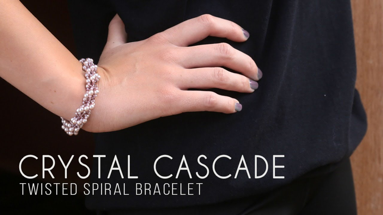 How To Make a Twisted Spiral Crystal Bracelet | Bead Spider Live Tutorial