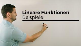 Lineare Funktionen, Beispiel   Mathe by Daniel Jung