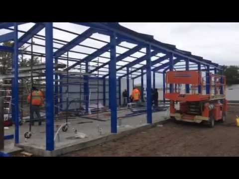 car wash construction building roof