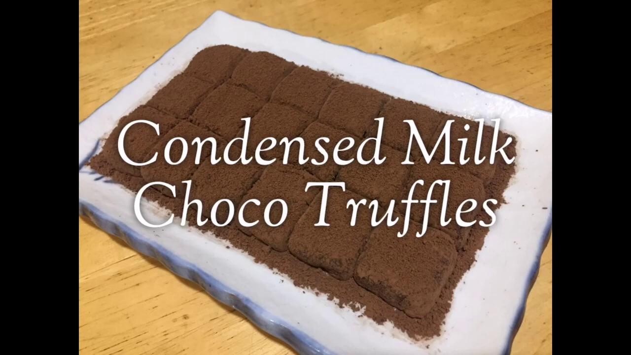 How To Make Condensed Milk Chocolate Truffles | Easy ...