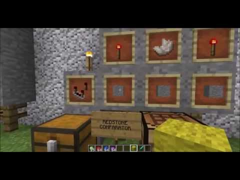 Nice Mc How To   Crafting Redstone Comparator Recipe Chapter 52   YouTube
