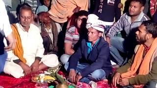 Tilak rasam in bihari (Bhojpuri) wedding chapra. Bihari jugar