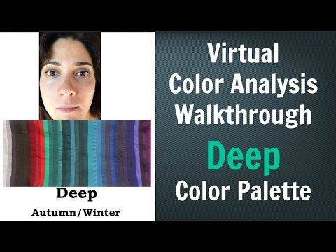 Deep Winter & Deep Autumn Color Palette: Neutral Skin Undertone  Virtual Color Analysis