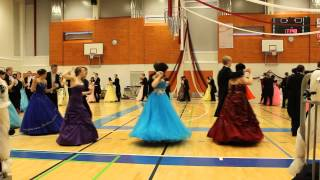 Wanhojen tanssit Loimaan lukiossa 14.2.2014, Gay Gordons