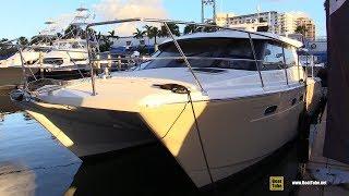 2019 Arrowcat 420 Power Catamaran - Quick Walkaround - 2018 Fort Lauderdale Boat Show