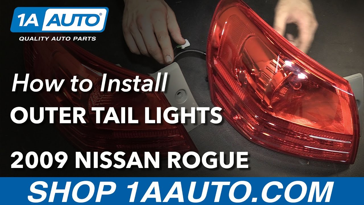 how to install replace outer tail lights 2008 13 nissan rogue buy quality auto parts at 1aauto com [ 1280 x 720 Pixel ]