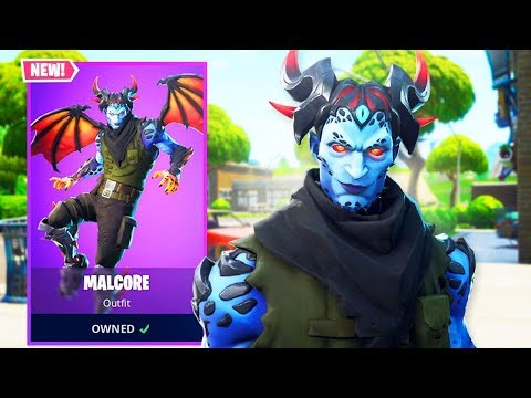 The New MALCORE Skin in Fortnite! thumbnail