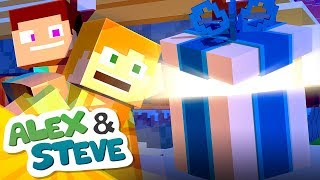 Download Video 🎁 CHRISTMAS MINECRAFT SURPRISE | The Minecraft Life of Alex & Steve | Christmas Minecraft Animation MP3 3GP MP4