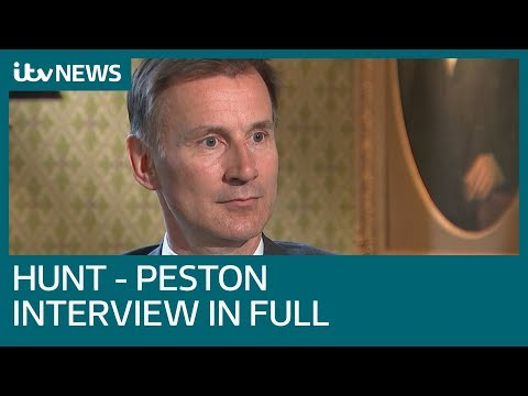 In full: Jeremy Hunt tells Robert Peston no-deal could be as bad as the financial crisis | ITV News