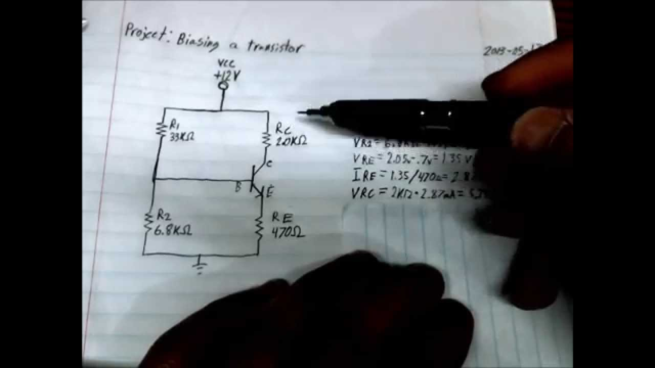 How To Calculate Transistor Bias Youtube Digital Voltmeter Wiring Diagram
