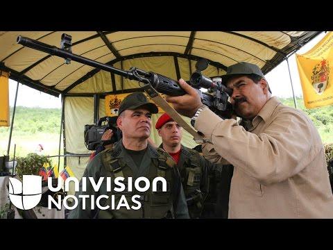 Nicolás Maduro realiza jornada de ejercicios militares para proteger su gobierno de un posible inten