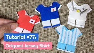 How to DIY Origami World Cup Jersey Shirt? | The Idea King Tutorial #77
