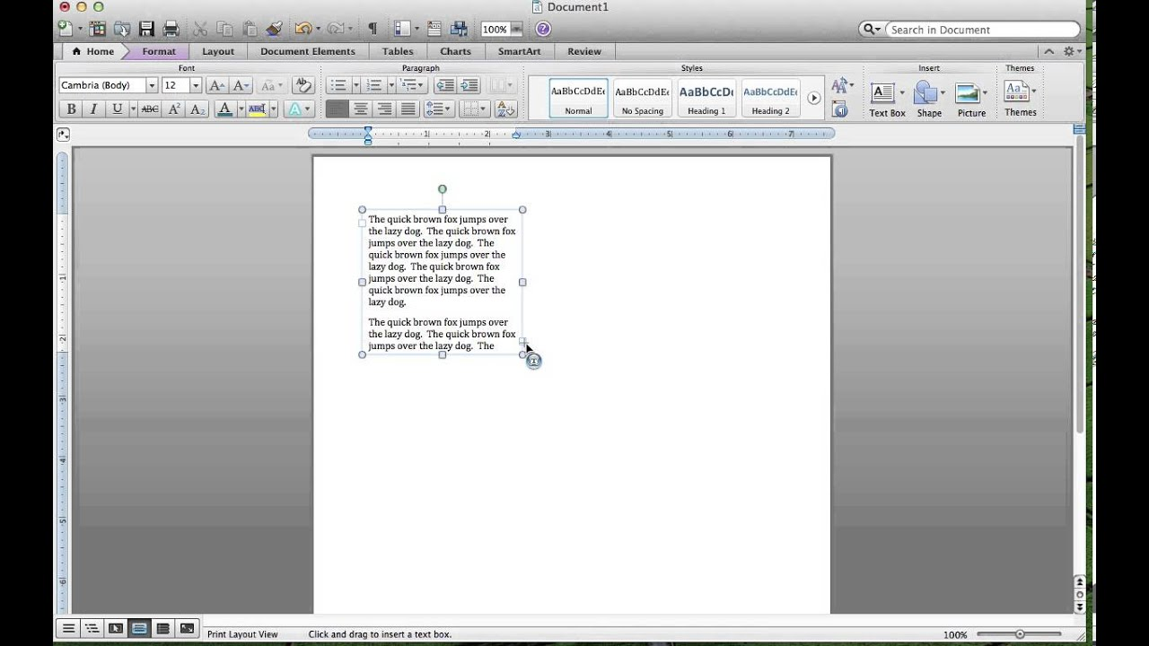 mac word insert picture black box