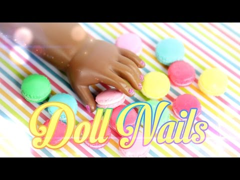DIY - How to Make: Painted Doll Nails - Handmade - Doll - Crafts