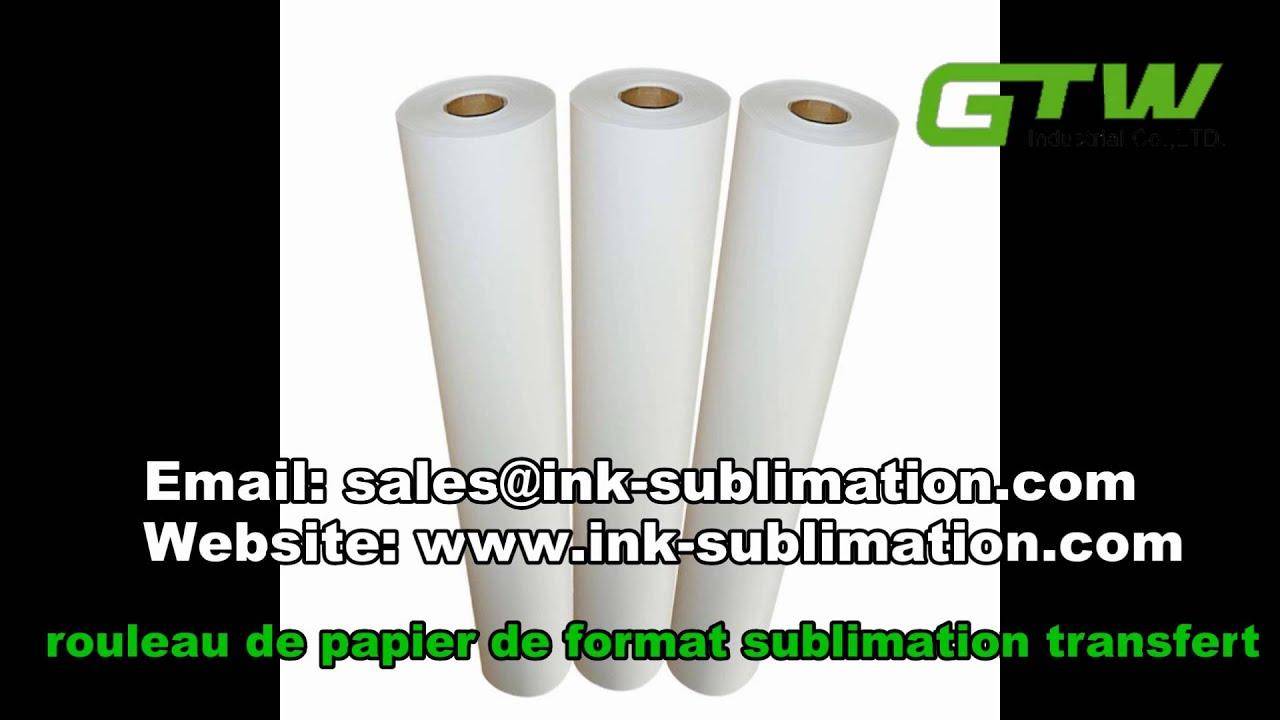 rouleau de papier de format sublimation transfert youtube. Black Bedroom Furniture Sets. Home Design Ideas