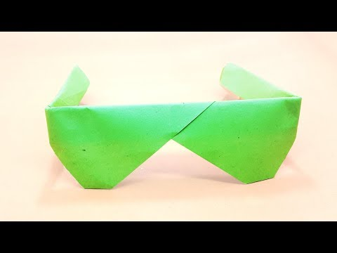 Easy Origami Sunglasses | how to make origami sunglasses - Simple & Easy Tutorial For Kids