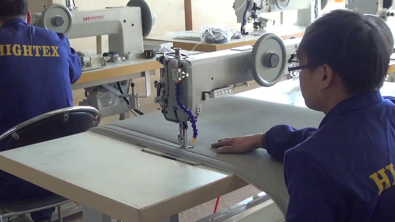 Máquina de coser de brazo largo y triple arrastre para