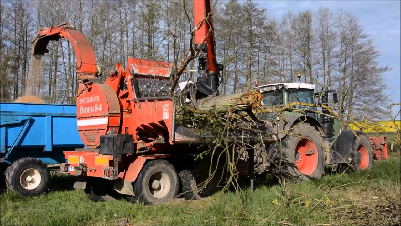Broyage de branche et d 39 arbre avec un fendt 939 suivie d 39 une broyeur biber 85 ardenne08 2016 - Broyeur a branche ...