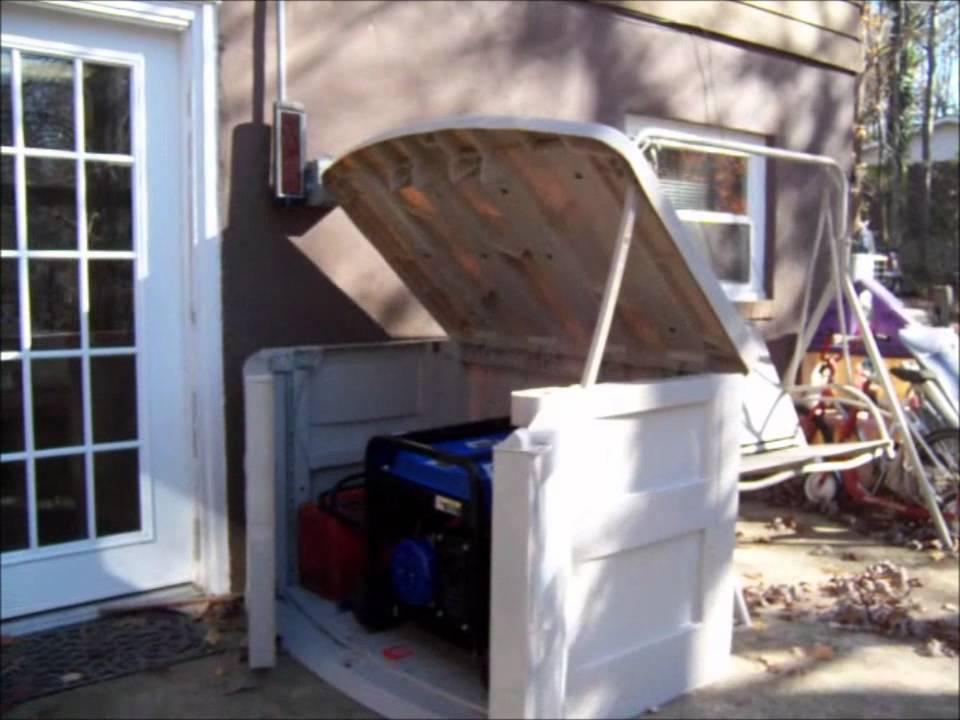 & Suncast Generator Utility Shed - YouTube