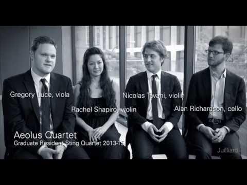 Juilliard Snapshot: Aeolus Quartet on Musical Focus