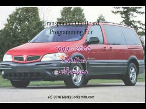 1999 to 2004 pontiac montana key programming guide youtube 1999 to 2004 pontiac montana key programming guide