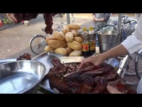 street grilled pork hawker Vietnamese Heo Quay Soc Trang