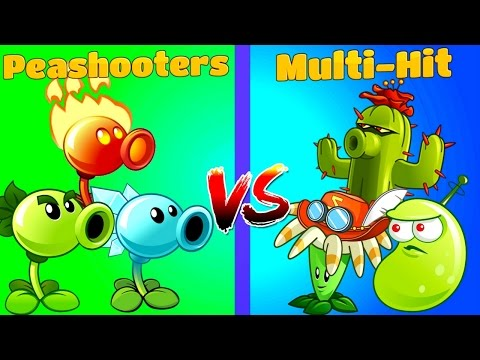 Plants vs Zombies 2 Multi-Hit vs Peashooters