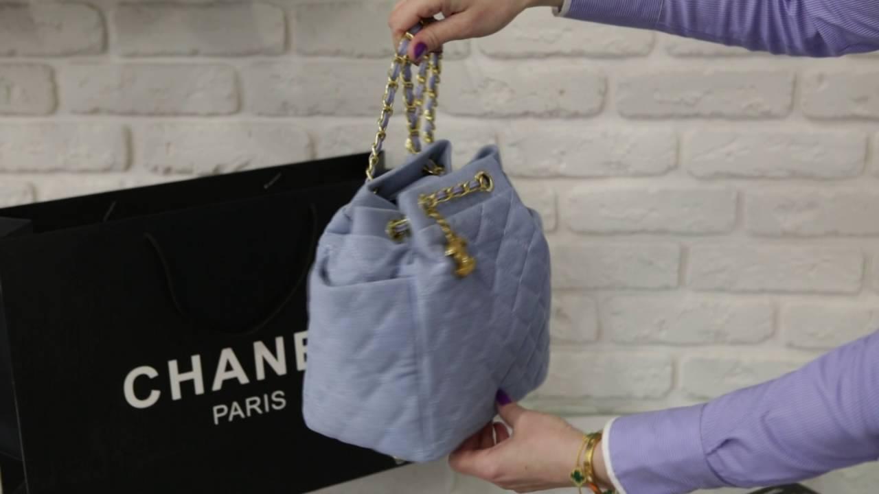 088712b5915e chanel backpack blue - YouTube