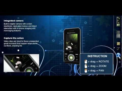 Web 3d product -  Sony Ericsson s500i mobile phone