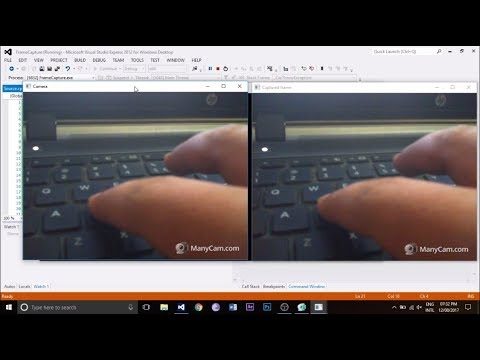 How to capture a frame using opencv in visual studio c++ example