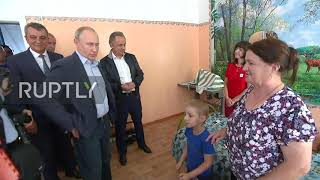 Russia 'Are You Putin' – Boy In Flood Hit Tulun Chats With Russian President