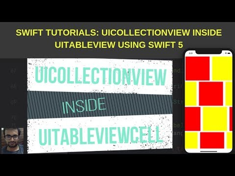 Swift Tutorials: UICollectionView inside UITableView using swift 5 thumbnail