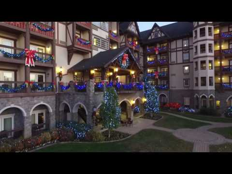An Aerial Tour of The Inn at Christmas Place, Pigeon Forge, TN