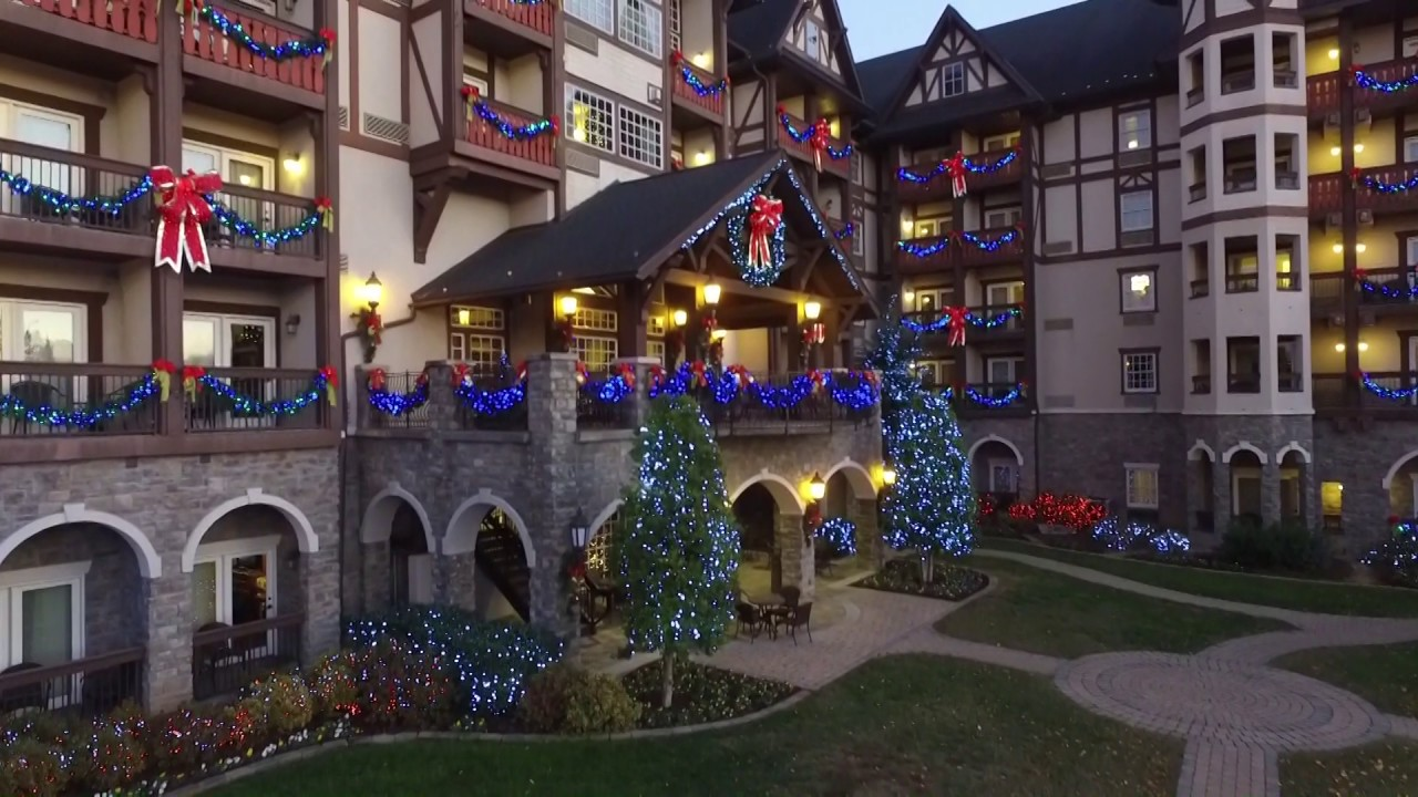 The Inn At Christmas Place.An Aerial Tour Of The Inn At Christmas Place Pigeon Forge Tn