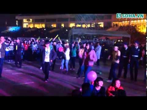 Fan T ara phấn khích nhảy cùng thần tượng ở Mỹ Đình   Soha vn