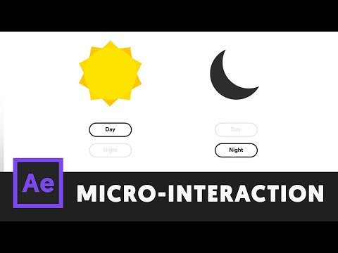 Day to Night - After Effects Microinteraction 03