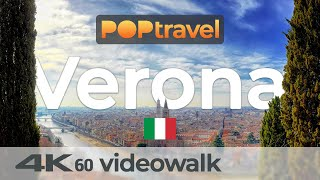 Walking in VERONA / Italy - Castel San Pietro to Old Town - 4K 60fps (UHD)