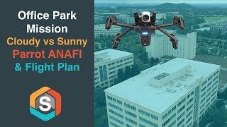 Office Park Mission using Flight Plan - Parrot ANAFI