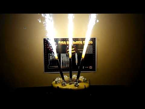 birthday candle ice fireworks silver stage fountain