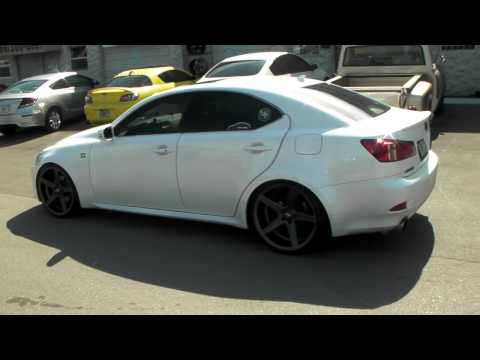 """20"""" Inch STR 617 Gunmetal Conave Rims 2011 Lexus IS350 F-Sport Review Coilovers Rolled Fenders"""