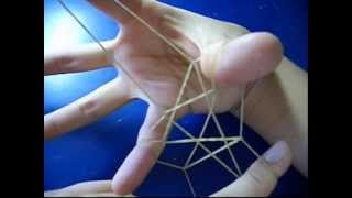 How To Make 3 STARS With 1 Rubber Band?