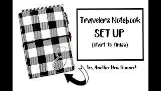 Set Up of Pocket Sized Travelers Notebook Webster