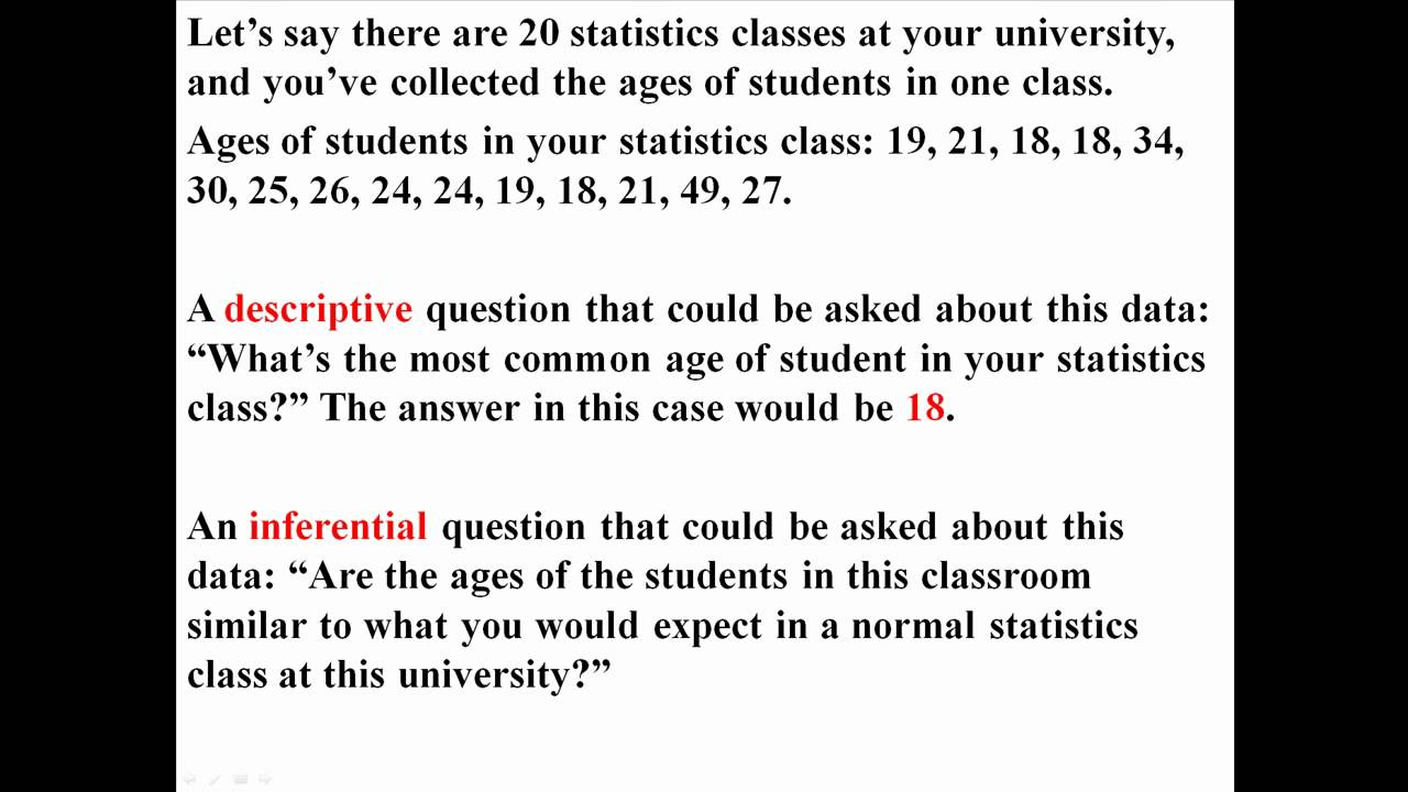 inferential vs descriptive statistics