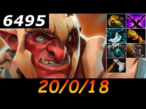Dota 2 Troll Warlord 6495 MMR 20/0/18 (Kills/Deaths/Assists) Ranked Full Gameplay