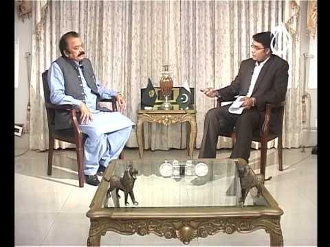 Hot Seat AAJ News Rana Sanaullah Part 01