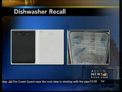Dishwasher recall