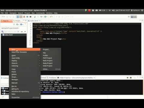 Ejemplo de uso de Aptana con JQuery