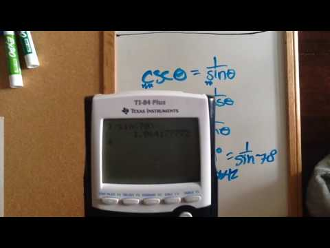 How to put csc sec cot in calculator - YouTube