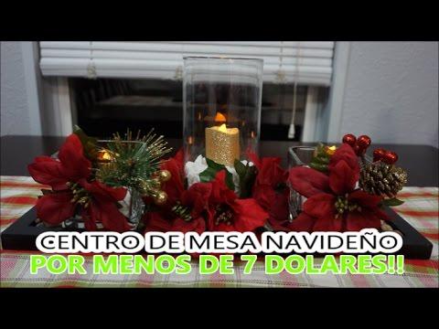 Centro de mesa navide o por menos de 7 dolares youtube - Youtube centros de mesa navidenos ...