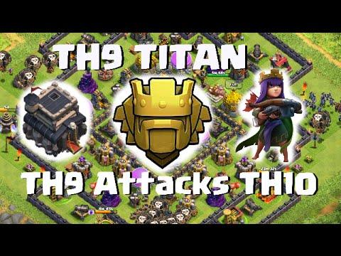 TH9 Defenses in Titan | over 4400 | Clash of Clans